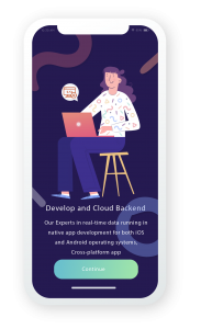 App development and cloud backend to best performing app