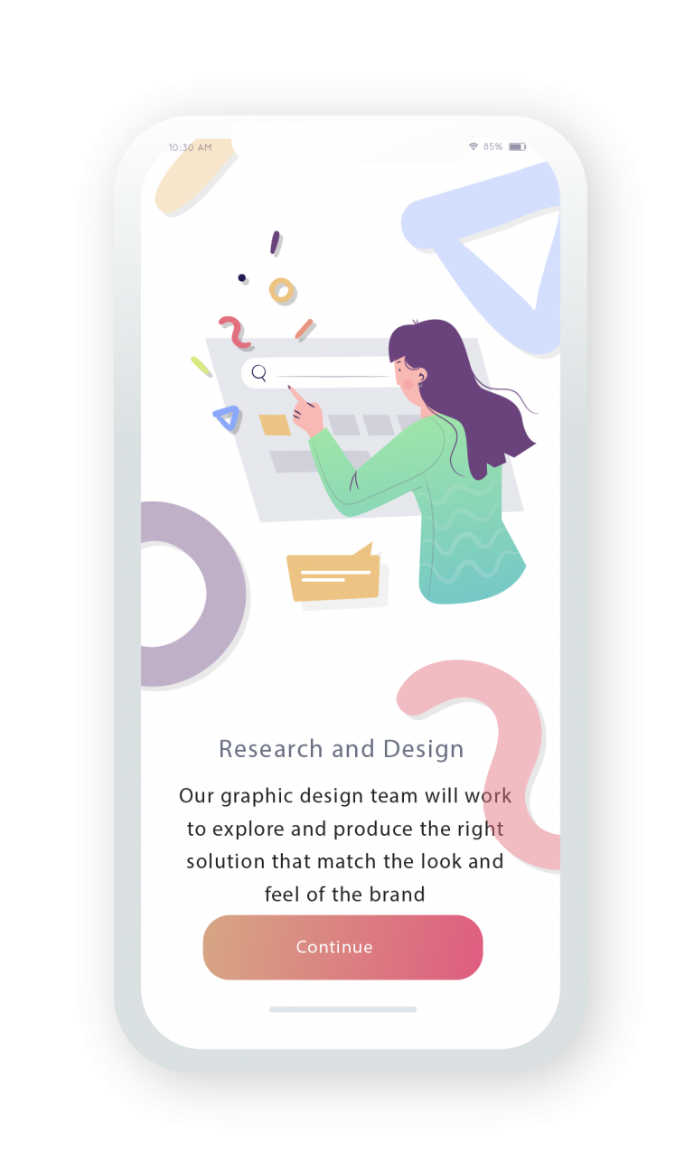 App Design and market research for app development